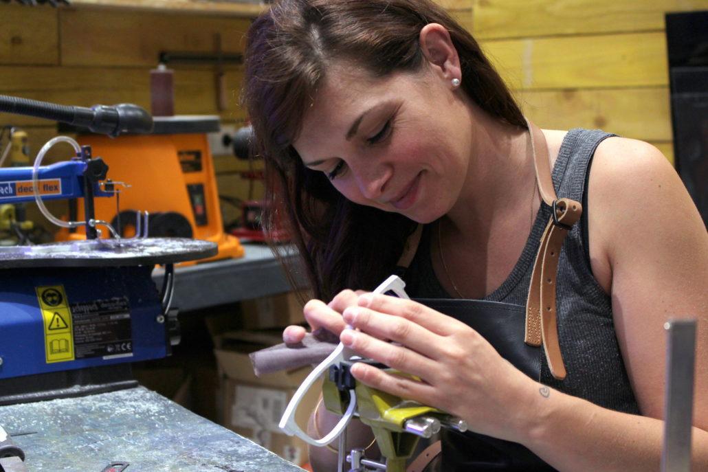 Blandine à l'atelier