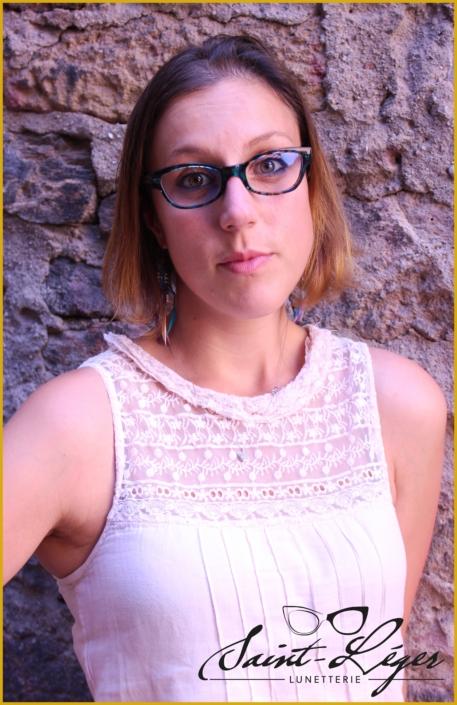 Monture de lunette femme en acétate Mazzuccelli bleu translucide